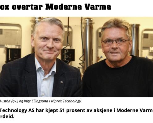 Niprox overtar Moderne Varme